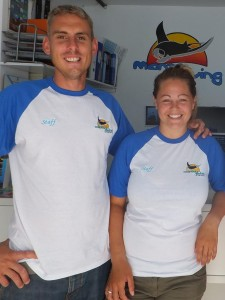 Ben and Rachel are on hand to look after your diving needs!
