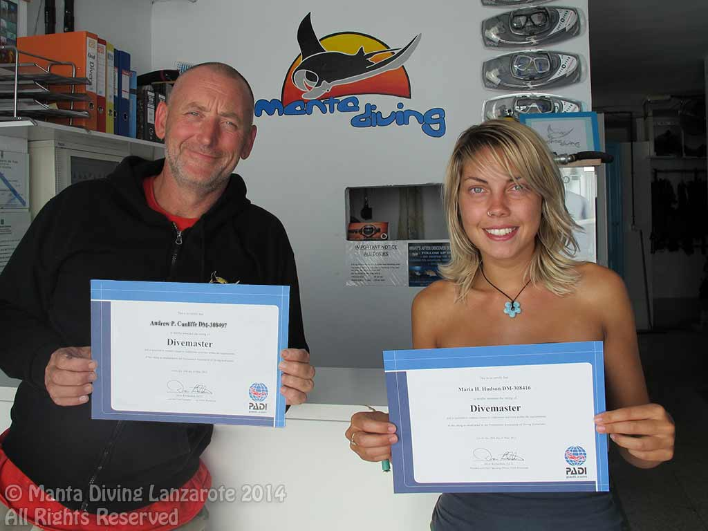 Cours Padi Divemaster Guide De Palanqu Manta Diving