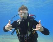 appreciez vos baptême de plongée PADI avec Manta diving Lanzarote