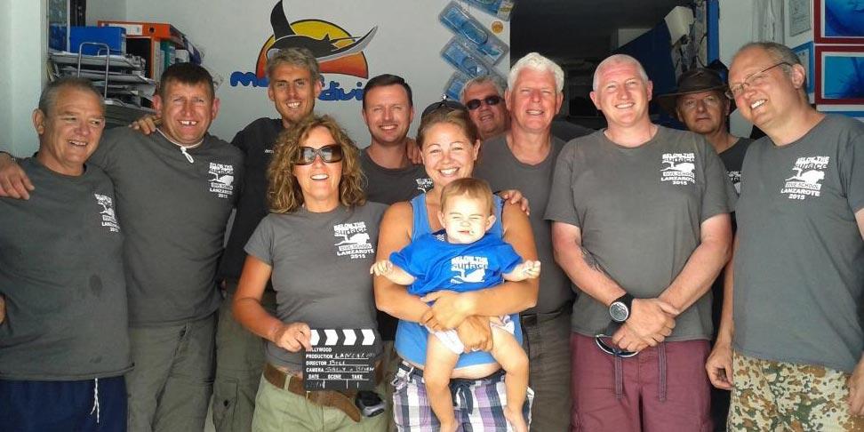 Dive club visits Manta Diving Lanzarote