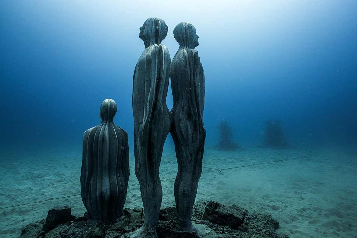Jason de Caires Taylor sculpture Lanzarote Museo Atlantico plongee