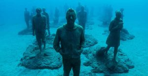Museo Atlantico, Lanzarote, underwater museum, statues, art, plongee, padi, cours, sites-de-plongee