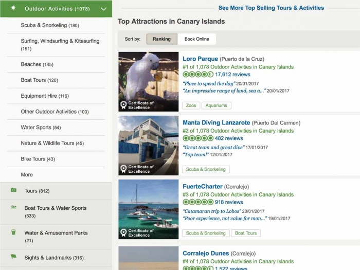 Number 1 for scuba diving in the Canaries on TripAdvisor!