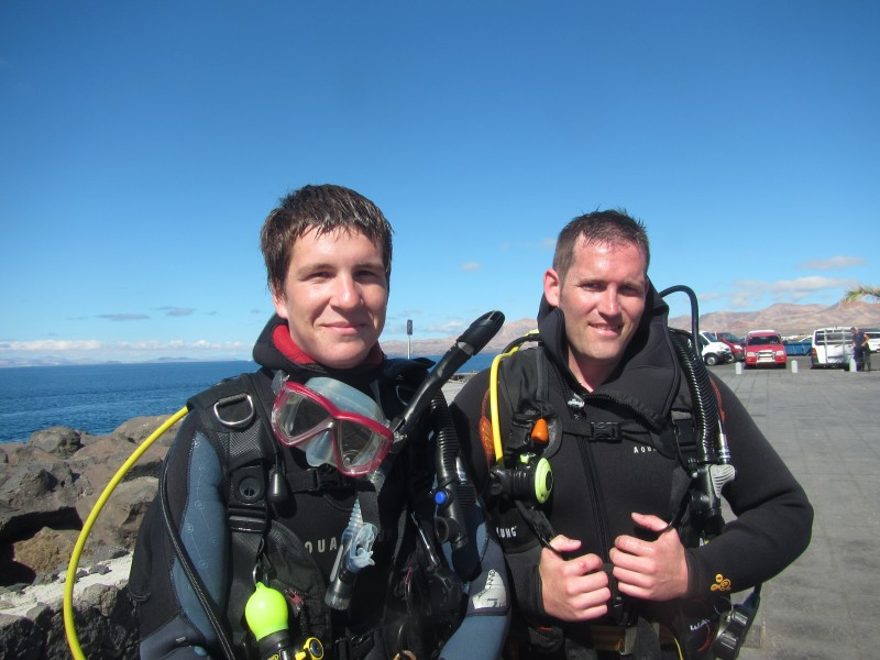 PADI cours Open Water a Lanzarote