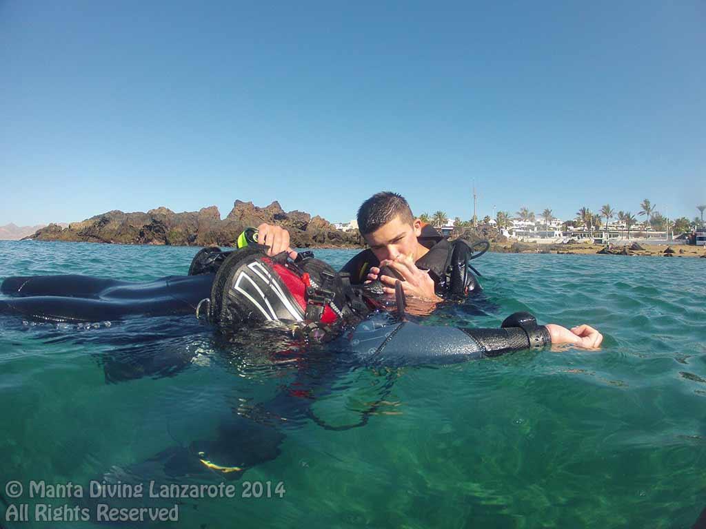 Ben Rescue Diver Course in Lanzarote
