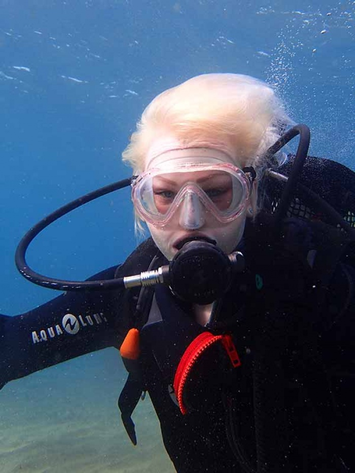 Gros plan sur Alana en plongée aux iles Canaries!