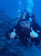 Ian à passé son niveau PADI Advanced open water à Lanzarote!